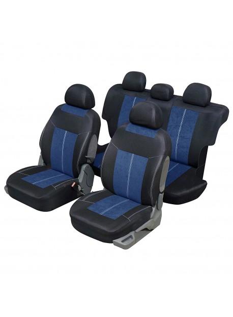 Housse si ge auto universelle pour 4x4 et suv bleu et noir for Housse siege auto universelle