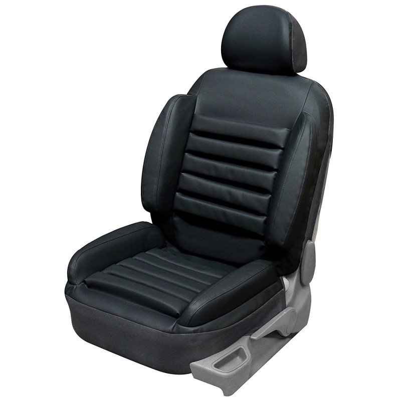 Housse si ge auto universelle anti mal de dos en simili for Housse cuir siege auto