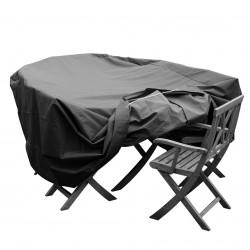 housse salon de jardin ovale l x l x h cm with housse table de jardin. Black Bedroom Furniture Sets. Home Design Ideas