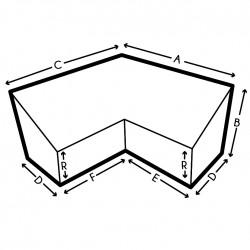 Housse de protection de canapé d'angle