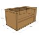 Housse de canapé 2 places 140x80x60 - Polyester Beige