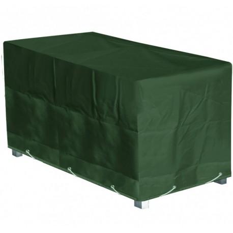 Housse Table jardin rectangulaire L 240 x l 110 x h 70 cm vert bouteille