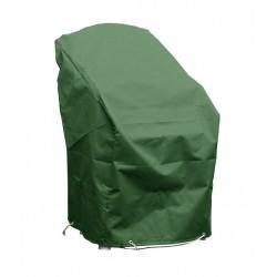 Housse chaises de jardin empilables L 70 x l 65 x h 70 vert bouteille