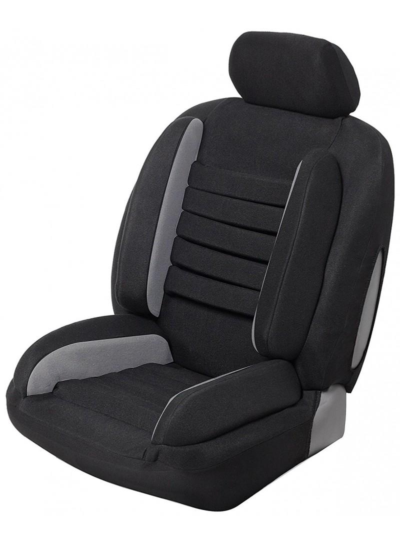 housse si ge auto universelle anti mal de dos super confort noir gris. Black Bedroom Furniture Sets. Home Design Ideas