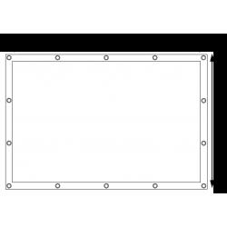 Bâches de protection PVC sur mesure - Forme 1 rectangle