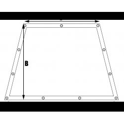 Bâches sur mesure My-Housse Forme 6 trapèze