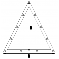 Bâches plates sur mesure - Forme 7 triangle isocèle