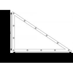 Bâches plates sur mesure - Forme 8 triangle rectangle