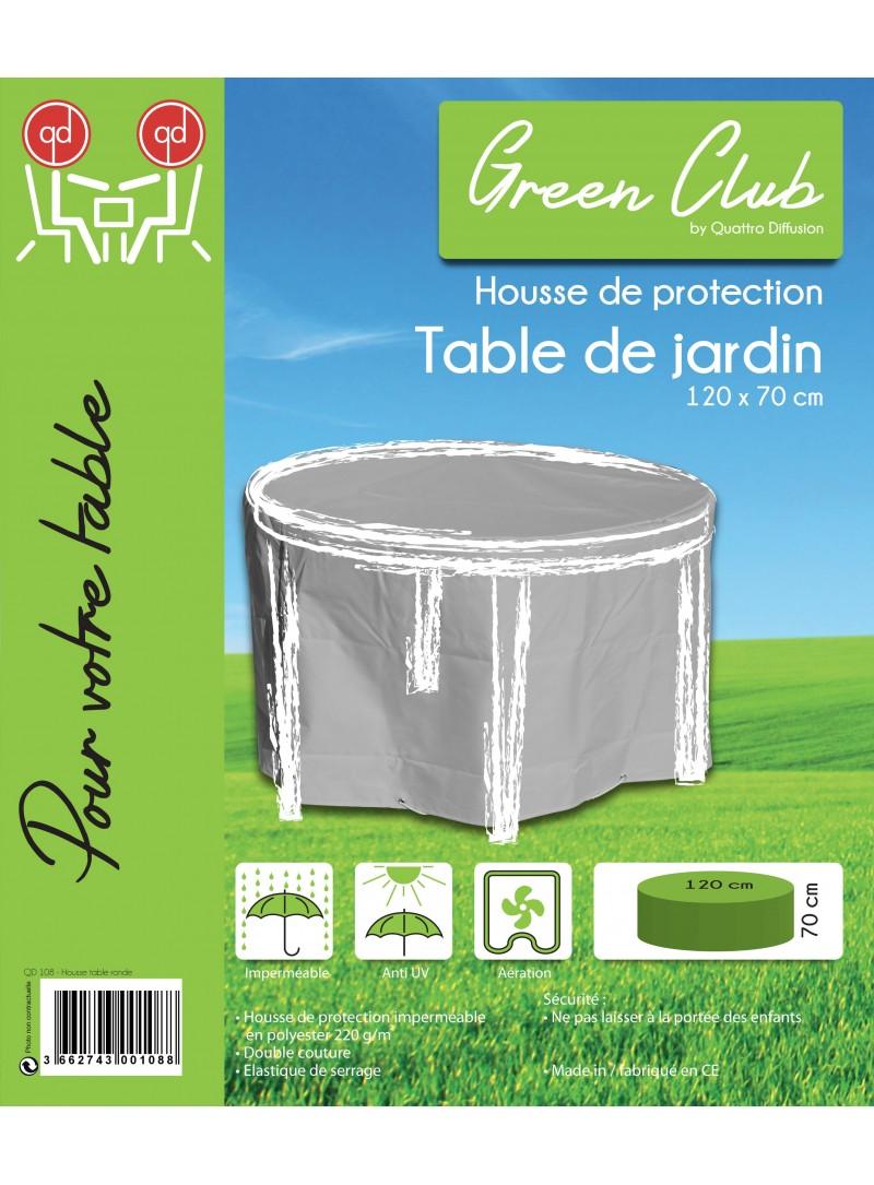 Housse de protection pour table de jardin ronde d 120 x h for Housse de protection jardin