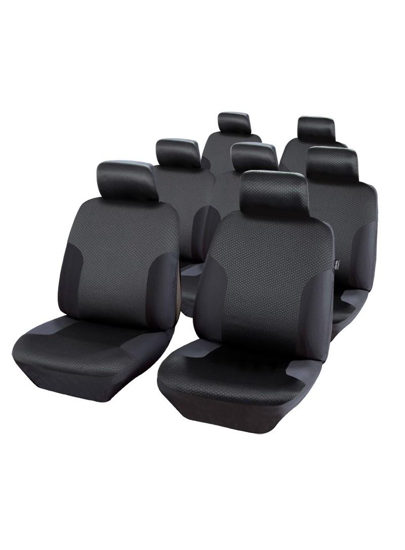 7 x HOUSSES NOIR COUVRE SIEGES POUR SEAT ALHAMBRA /& OPEL SINTRA 7 PLACES