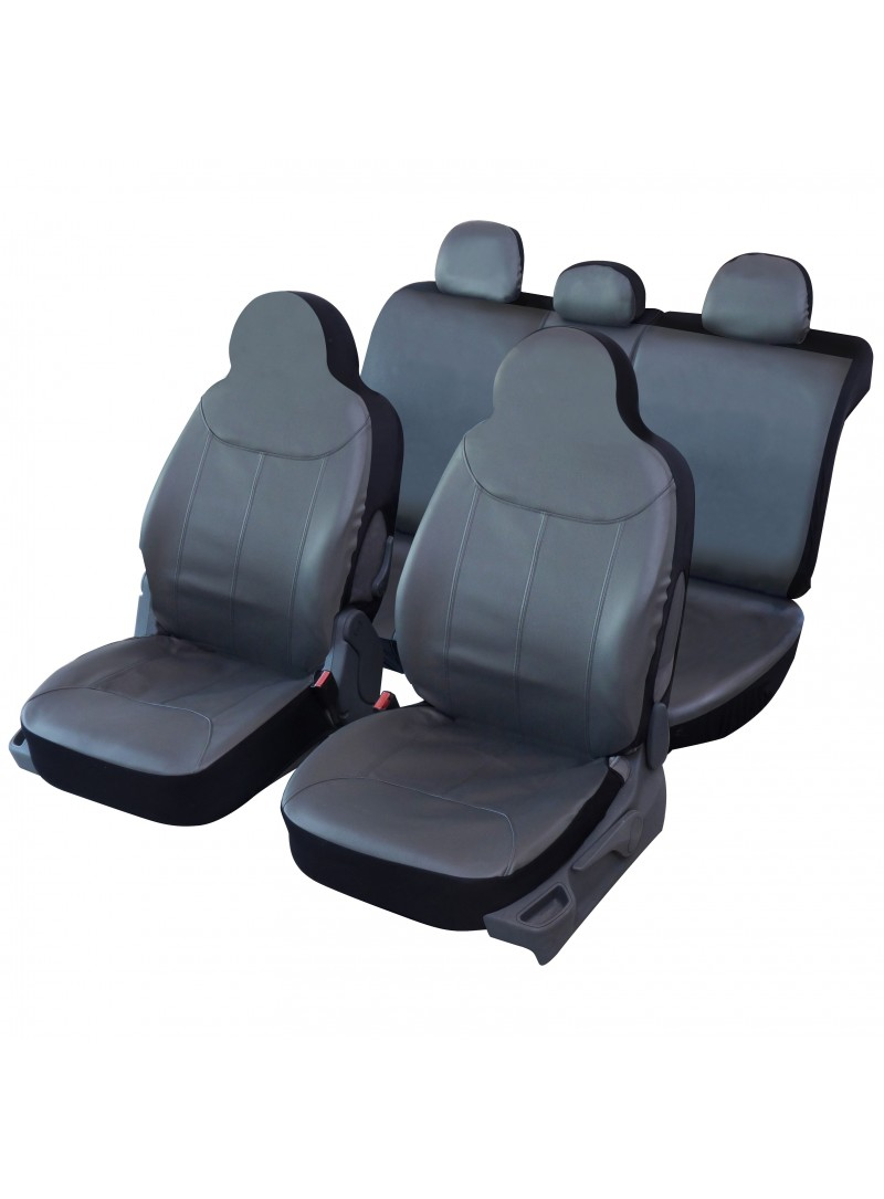 Housse si ge auto universelle sp ciale citadine en simili for Housse siege auto cuir