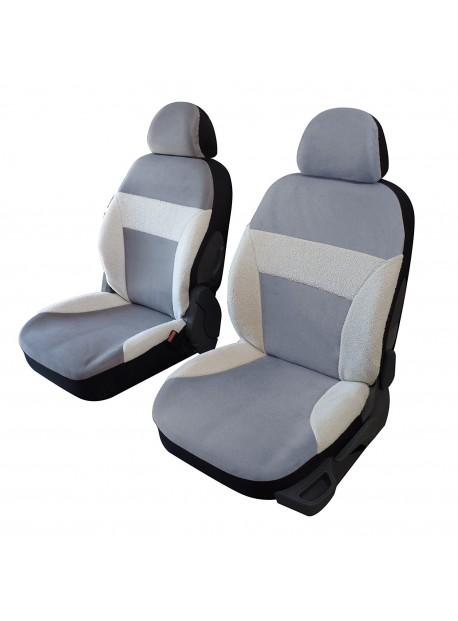 Housse sièges auto voiture avant universelle imitation peau de mouton coloris beige