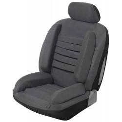 Housse siège auto universelle anti mal de dos super confort gris