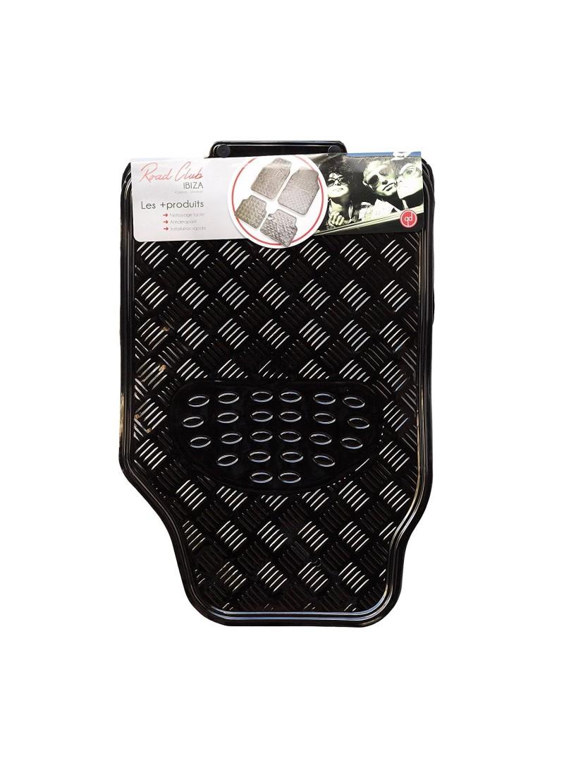 tapis auto universel tuning noir brillant 4 pi ces. Black Bedroom Furniture Sets. Home Design Ideas