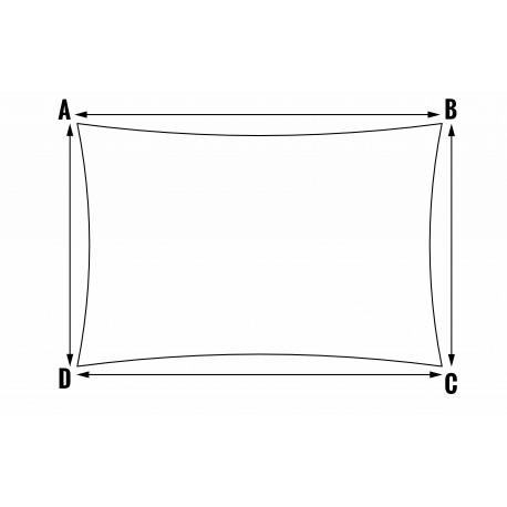 Voile d'ombrage sur mesure - Forme 2 Rectangulaire