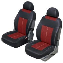 Housse siège auto avant universelle Rouge et Noir