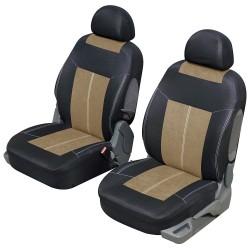 Housse siège auto avant universelle Beige et Noir