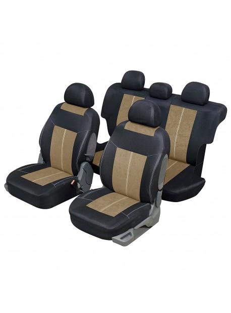 Housse siège auto universelle pour 4x4 et SUV beige et noir