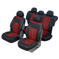 Housse auto 4x4 et SUV Microfibre Rouge et noir