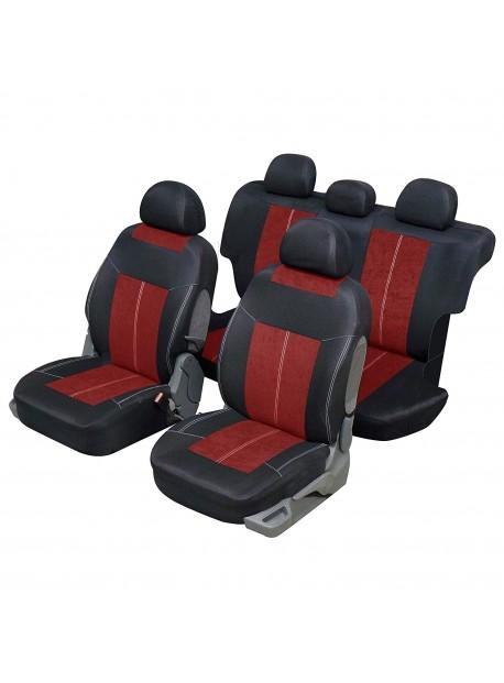 Housse siège auto universelle pour 4x4 et SUV Rouge et noir