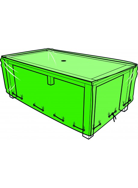 Housse pour table de jardin rectangulaire - 240 x 110 x 60