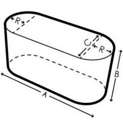 Housse de protection pour table ovale sur mesure