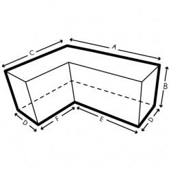 Housse de protection pour canapé d'angle sur mesure