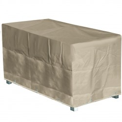 Housse table rectangulaire beige 240 x 110 x 70 beige