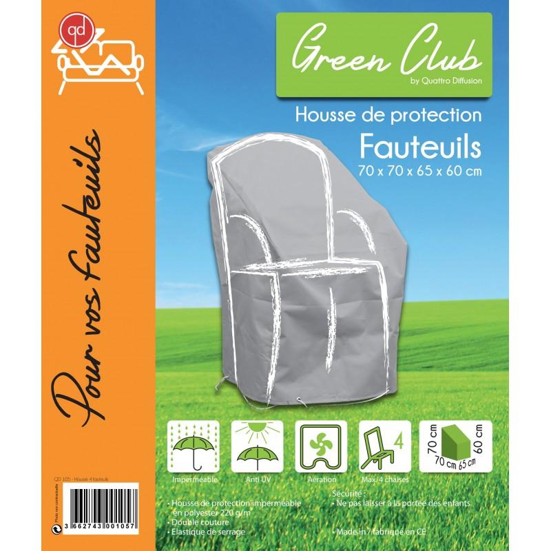 housse de protection pour chaises de jardin l70 x l65 x h70 my housse. Black Bedroom Furniture Sets. Home Design Ideas