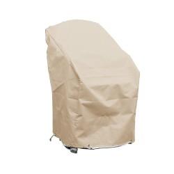 Housse chaises de jardin empilables L 70 x l 65 x h 70 beige