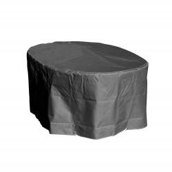 Housse table ovale 180 x 110 x 70 cm grise