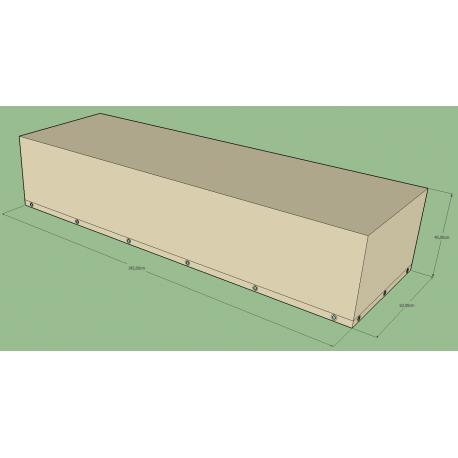 Housse rectangulaire L 195 x l 40 x h 63 cm Beige