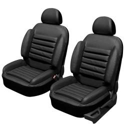 Housse siège avant anti mal de dos, super confort Simili cuir noir