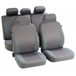 Housse siège auto pour citadine maille jacquard Bicolore gris à motif