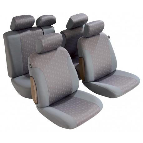 Housse siège auto pour Berline et break maille jacquard Bicolore gris à motif