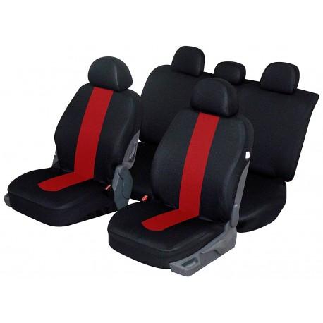 Housse siège auto universelle pour citadine, break, berline, suv et 4x4 coloris Rouge noir