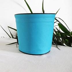 Pot de fleurs en textile - 100 % étanche - Bleu turquoise