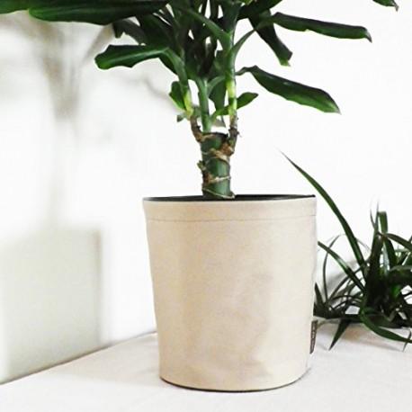 Pot de fleurs en textile - 100 % étanche - Beige