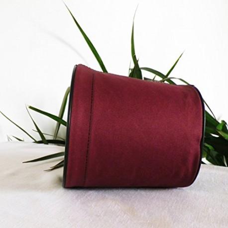 Pot de fleurs en textile - 100 % étanche - Rouge bordeaux