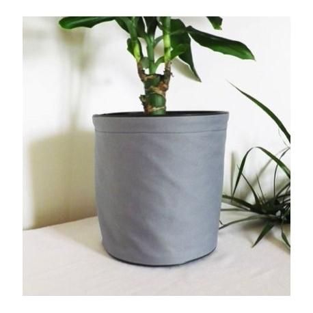 Pot de fleurs en textile - 100 % étanche - Gris
