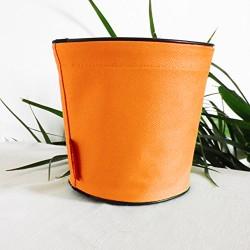 Pot de fleurs en textile - 100 % étanche, 3 tailles - Orange