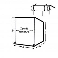 Housse de protection rectangulaire à zip sur mesure