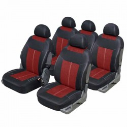 Housse auto Monospace 5 places Microfibre Rouge