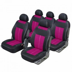 Housse auto Monospace 5 places Microfibre Rose