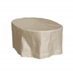 Housse table ovale 250 x 110 x 70 cm Beige