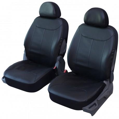 Housse Auto sièges avant Simili Cuir Noir