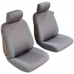 Housse auto sièges Avant maille jacquart Bicolore