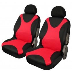 Housse auto sièges avant Marcel Rouge et Noire