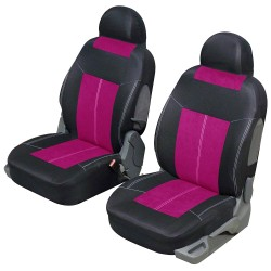 Housse de siège avant VSP rose et noir universelle
